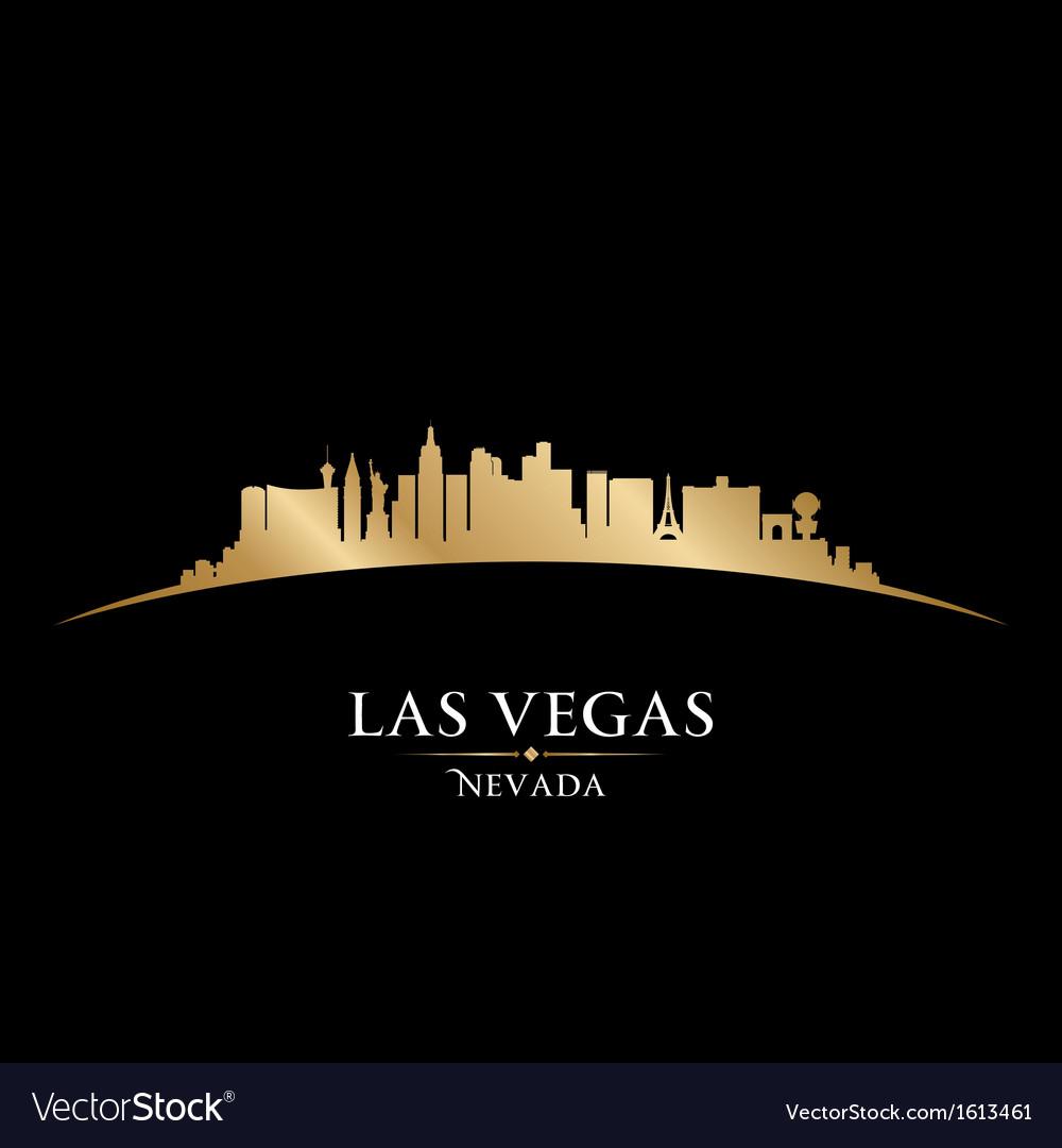 Las Vegas Nevada city skyline silhouette Vector Image