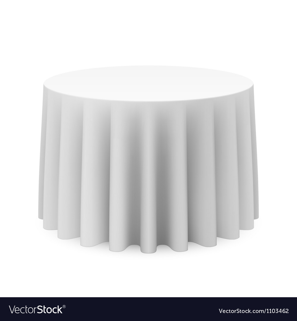 Round tablecloth vector image