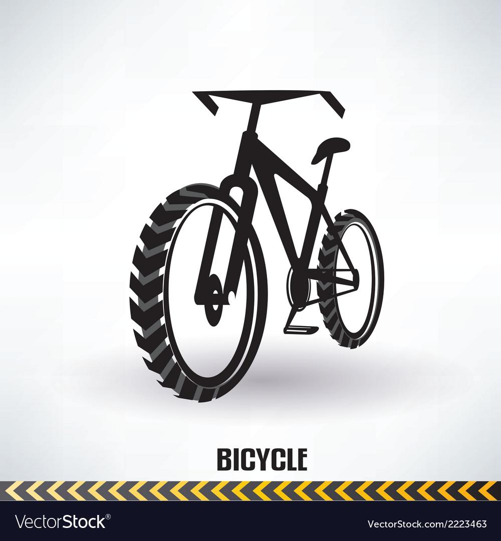 Mountain bike symbol vector image