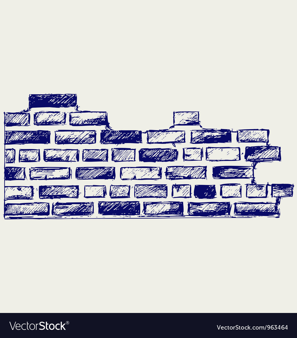 Old bricks vector image