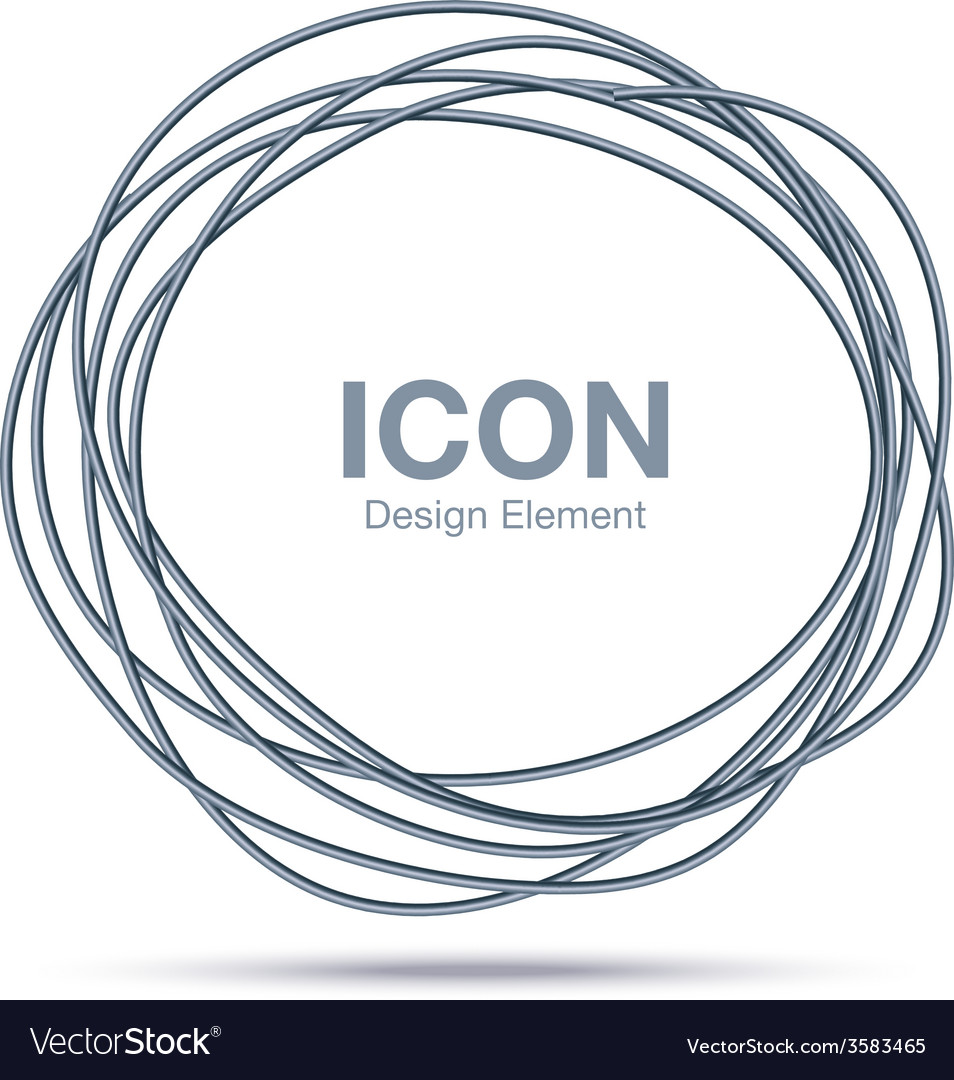 Hand Drawn Thin Ware Circle logo design element vector image