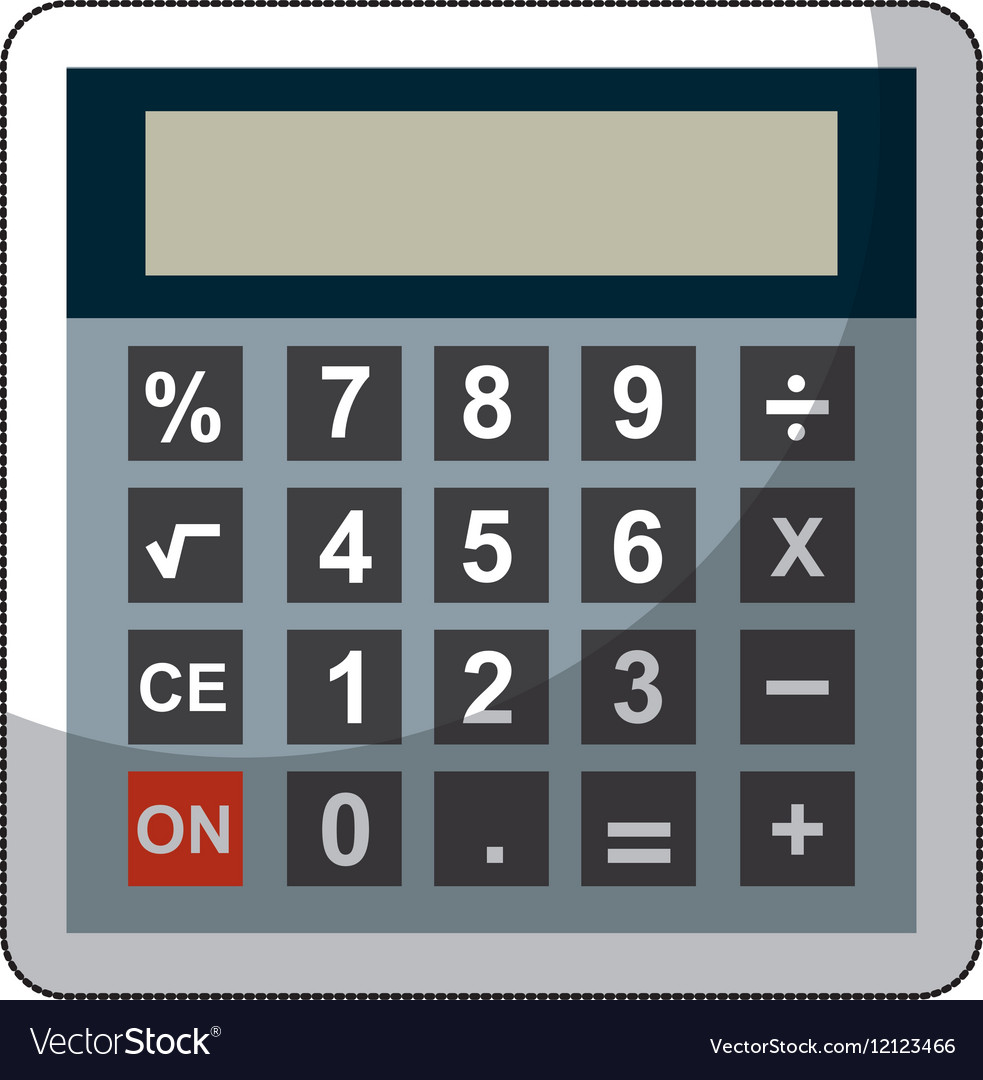 Colorful Mathematical Calculator Free Ornament - Math Worksheets ...