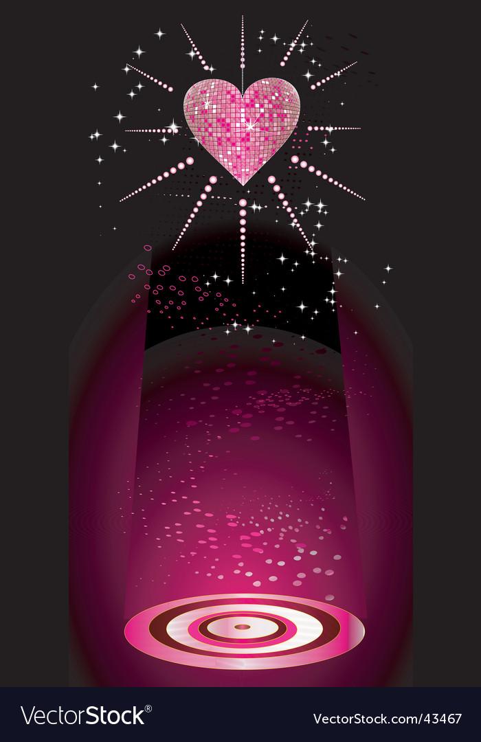 Disco heart Vector Image