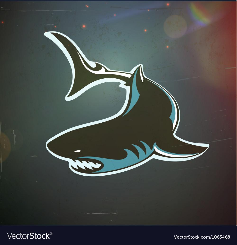 Angry shark vector image