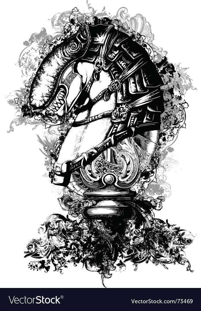 Horse tech illustration vector image