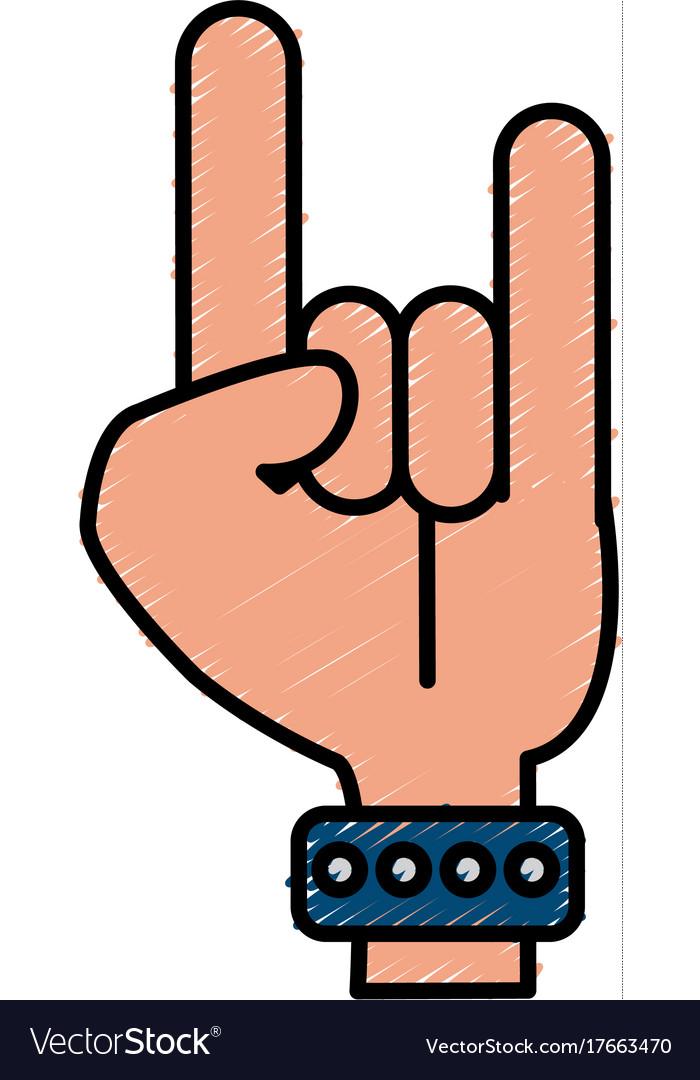 Hand rock and roll symbol isolated royalty free vector image hand rock and roll symbol isolated vector image buycottarizona