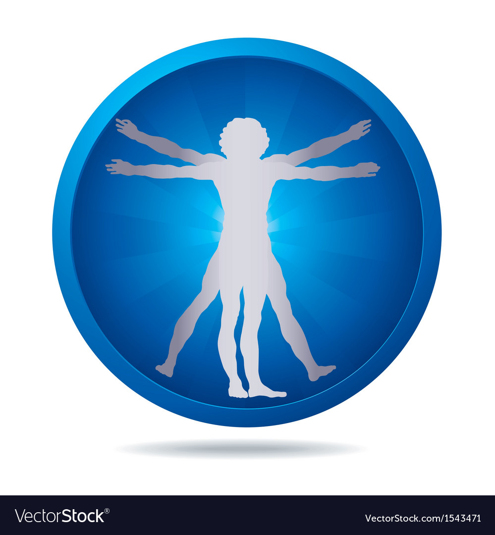 Blue vinci people Vector Image