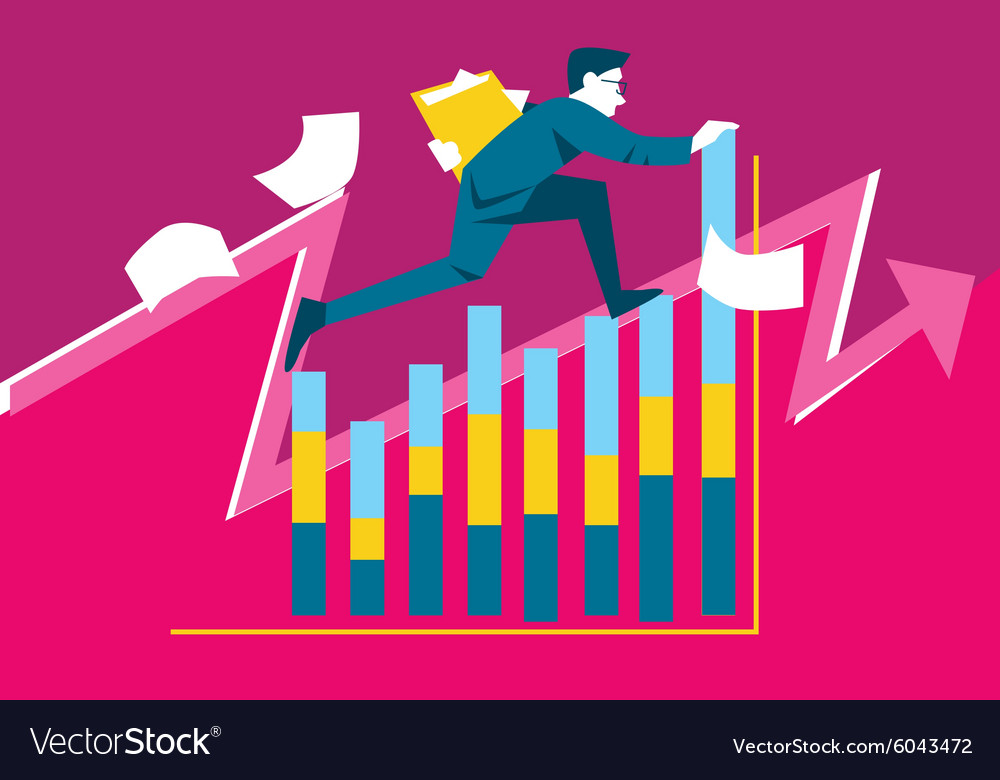 Abstract business concept vector image