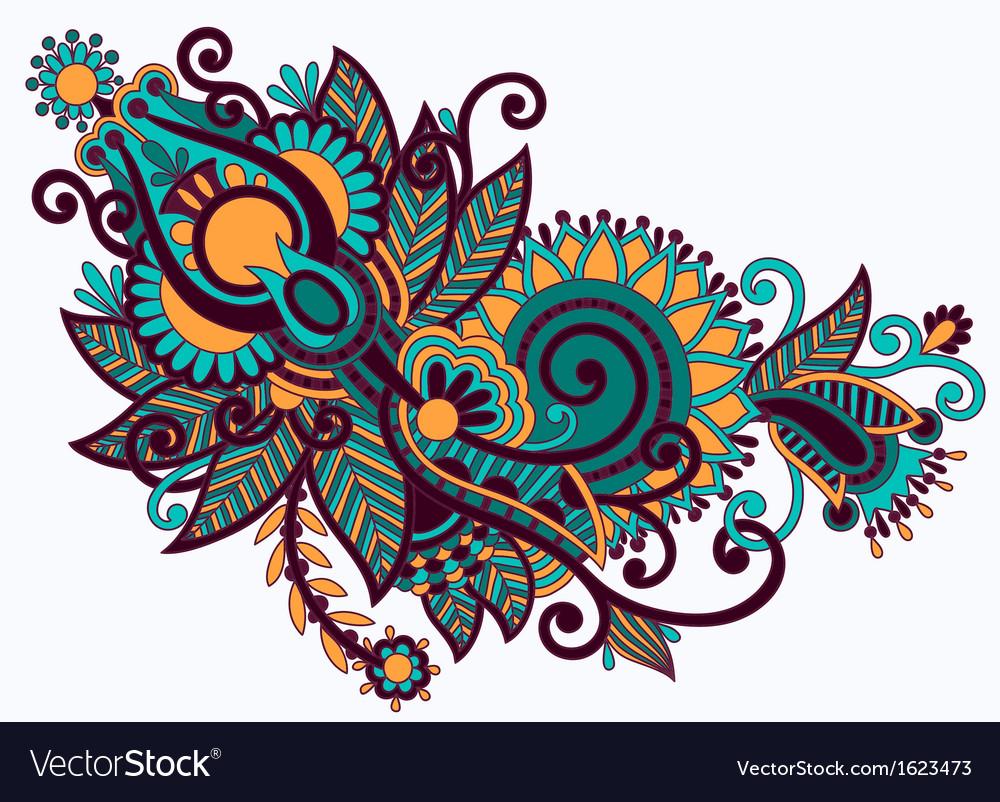 Line Art Ornate Flower Design : Line art ornate flower design royalty free vector image