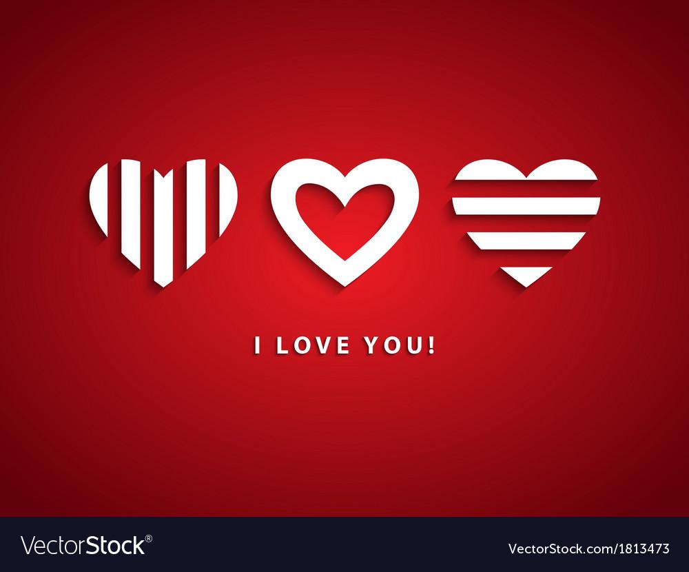 Three Hearts vector image