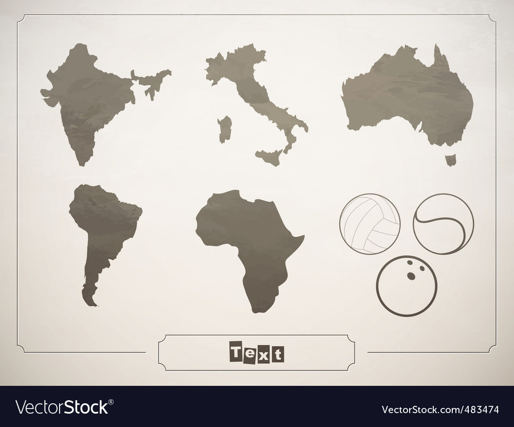 Geographical sports vector image