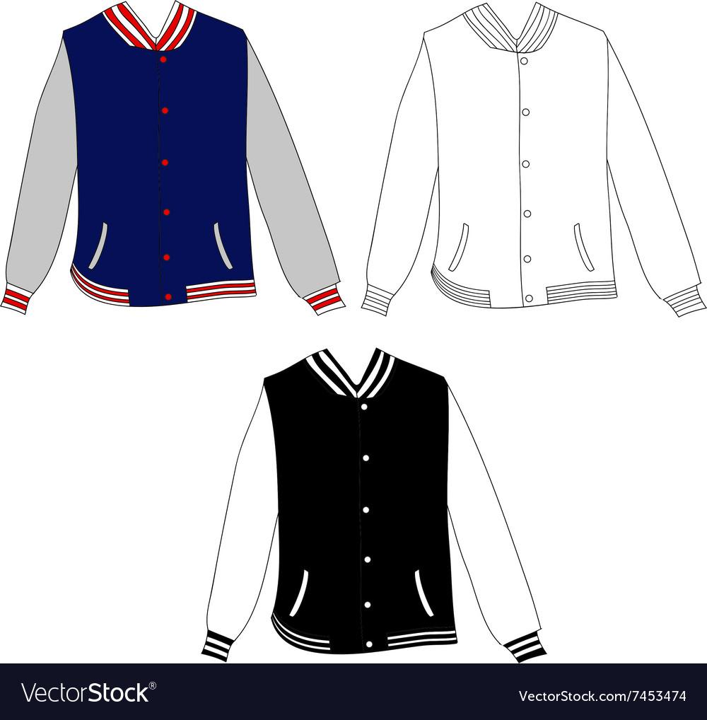 Baseball Jacket Design Royalty Free Vector Image