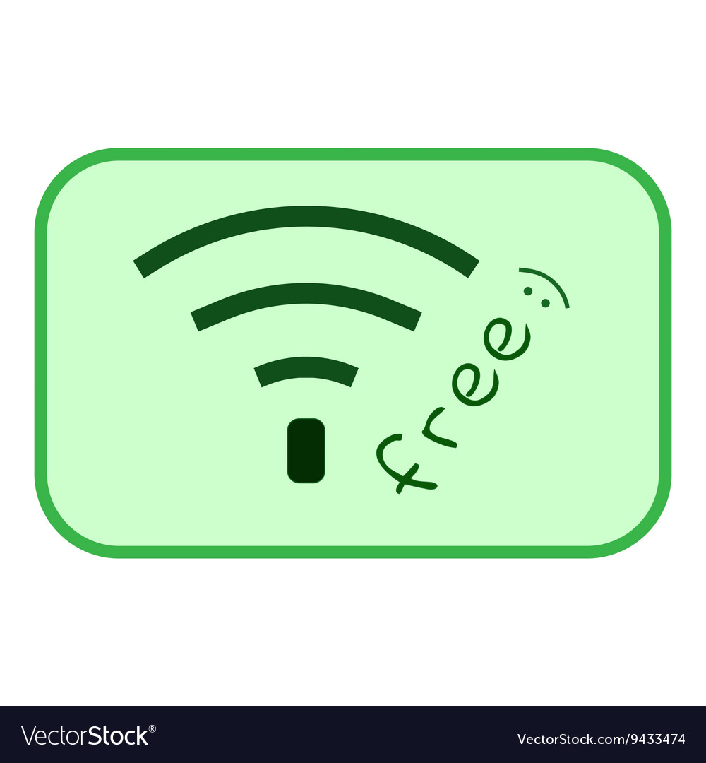 Free wi-fi sign 404 vector image