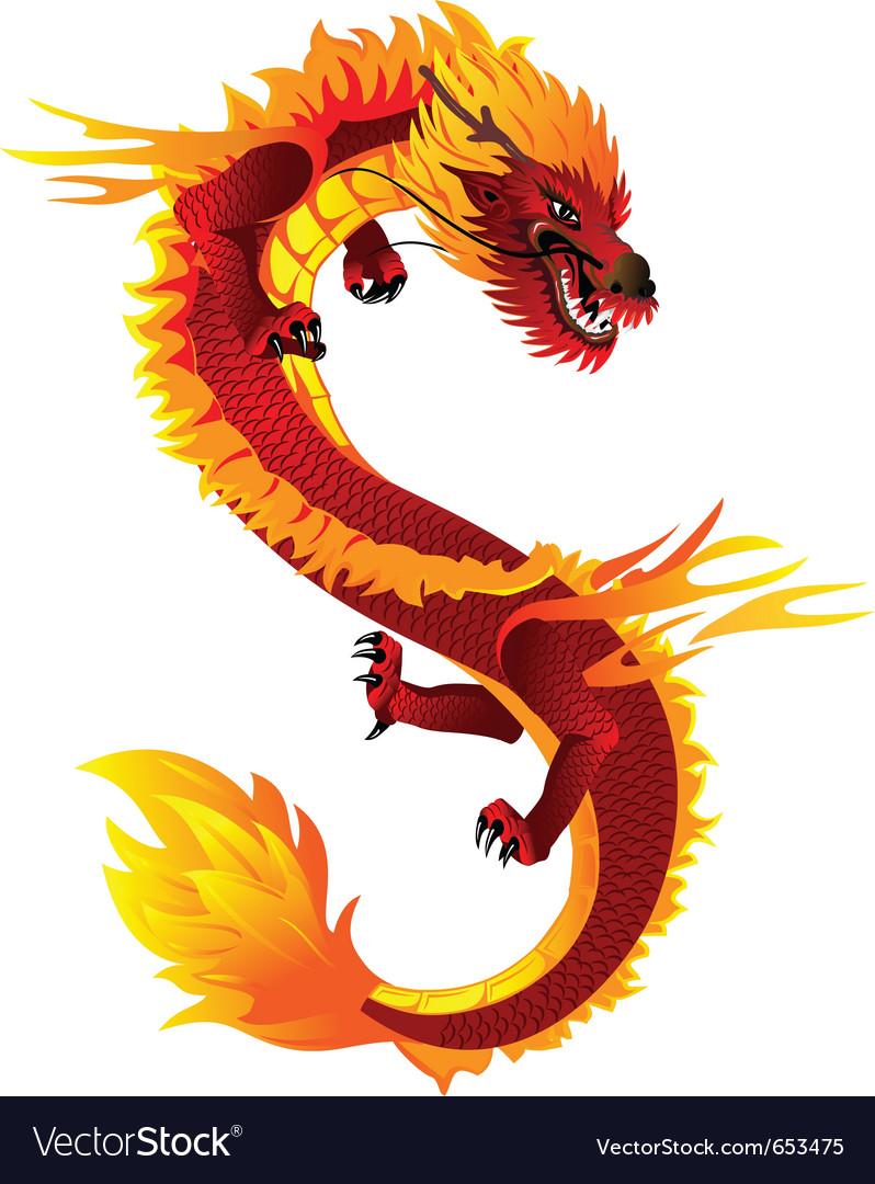 dragon full color royalty free vector image vectorstock