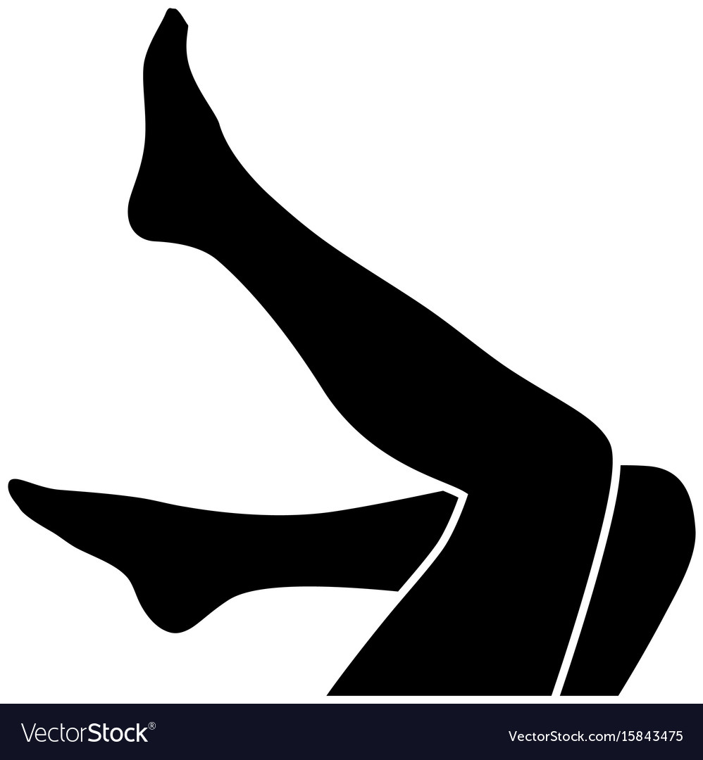 Woman legs silhouette vector image