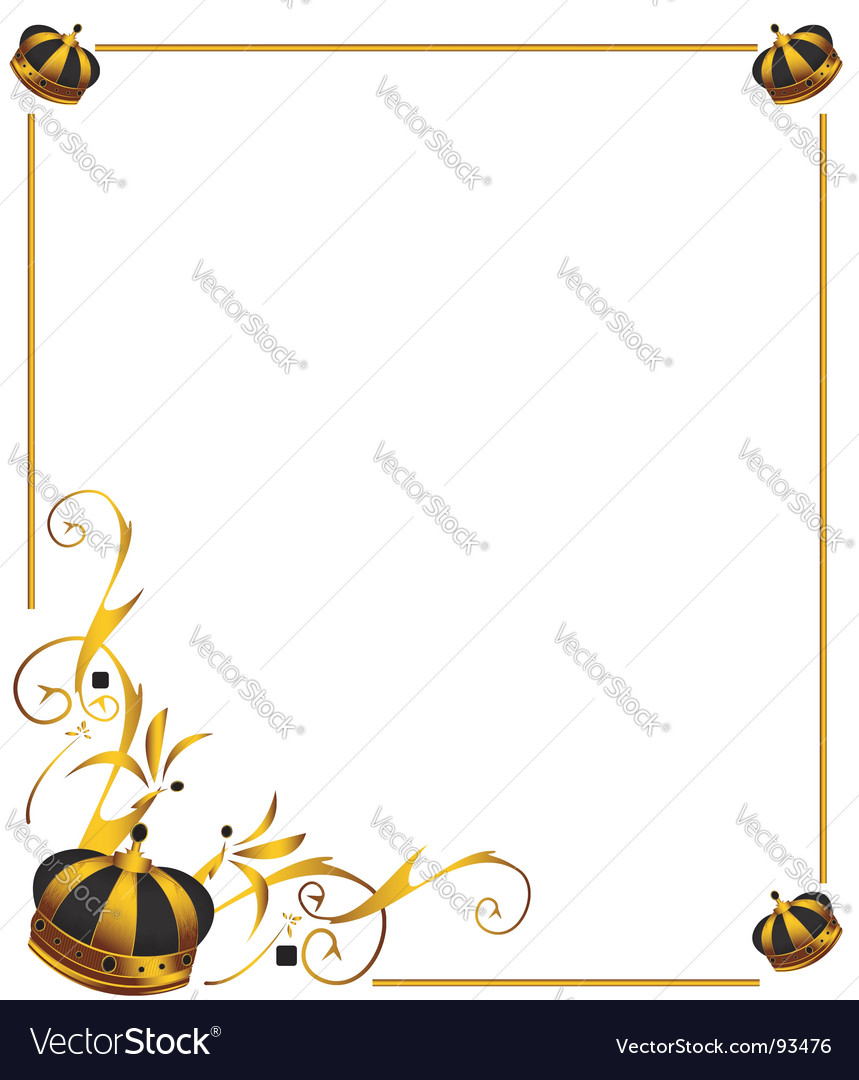 gold crown frame vector image