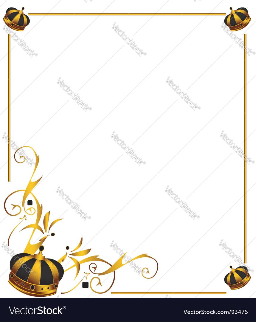 gold crown frame vector image