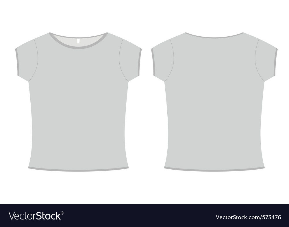 Basic ladies tshirt template Royalty Free Vector Image