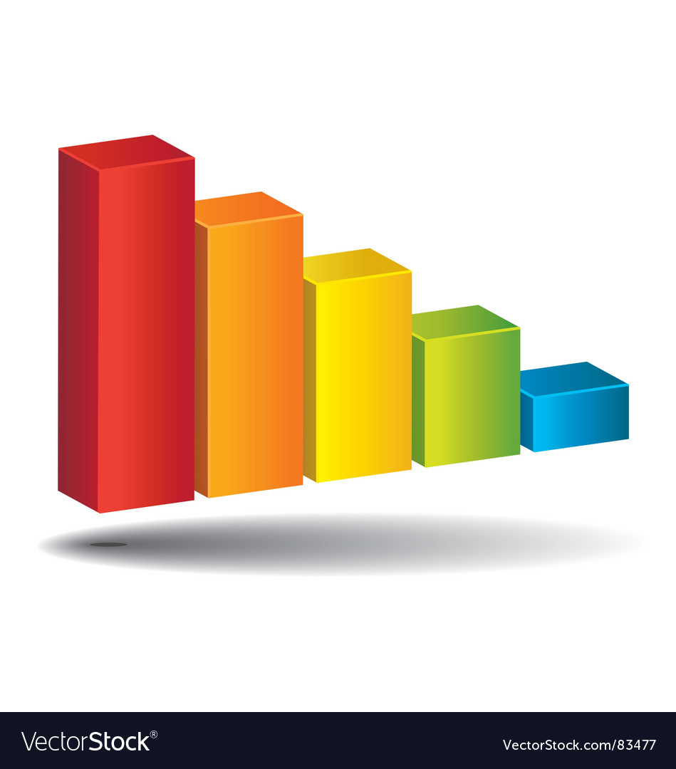 Colorful diagram vector image