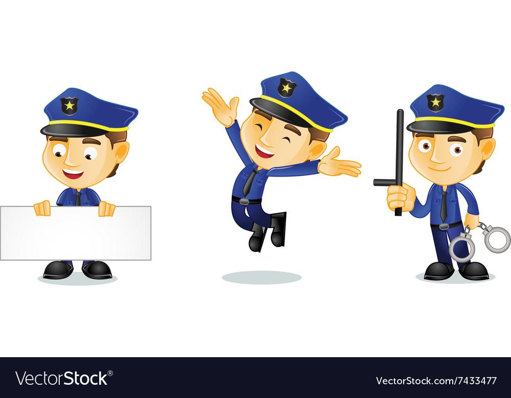 Policeman 1 vector image