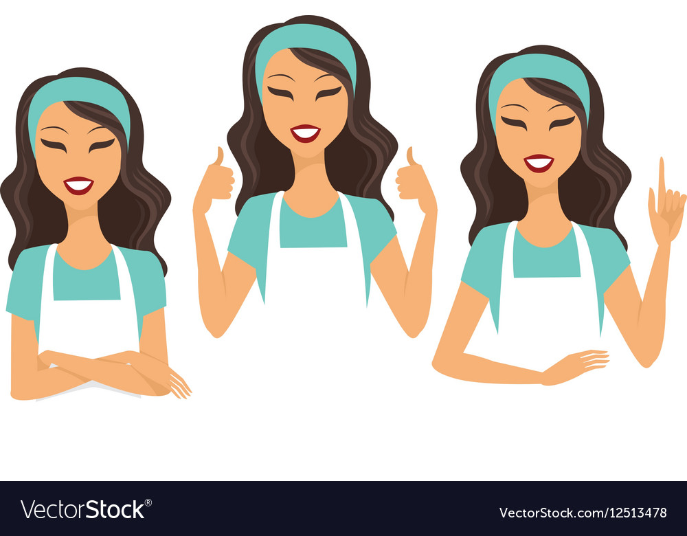 Housewife character vector image