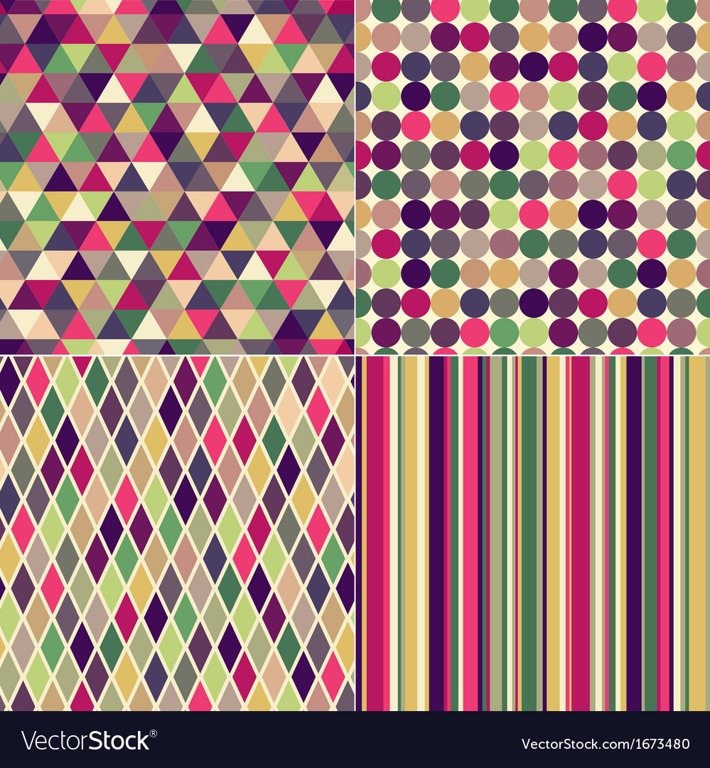 Seamless multicolored geometric pattern vector image