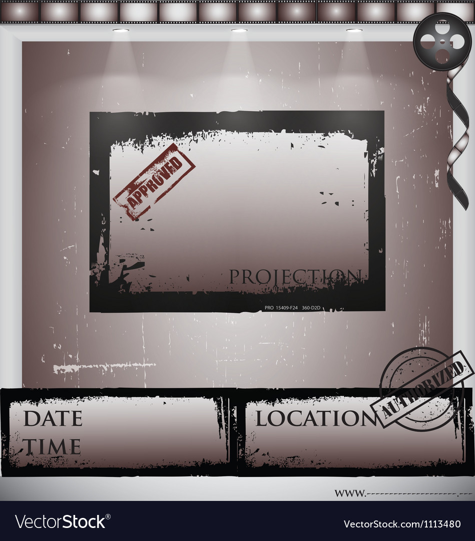 Film projection vector image