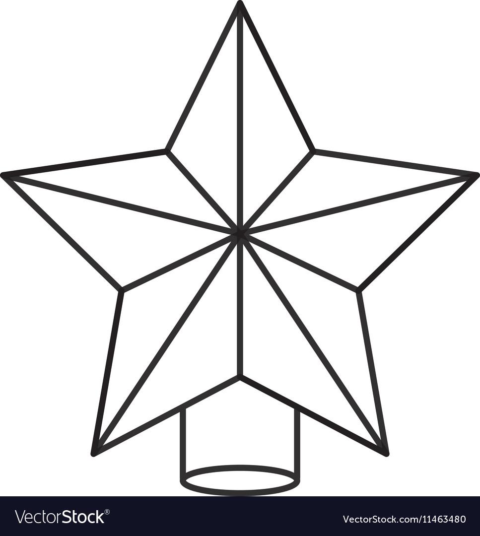 Isolated star of Christmas season design vector image