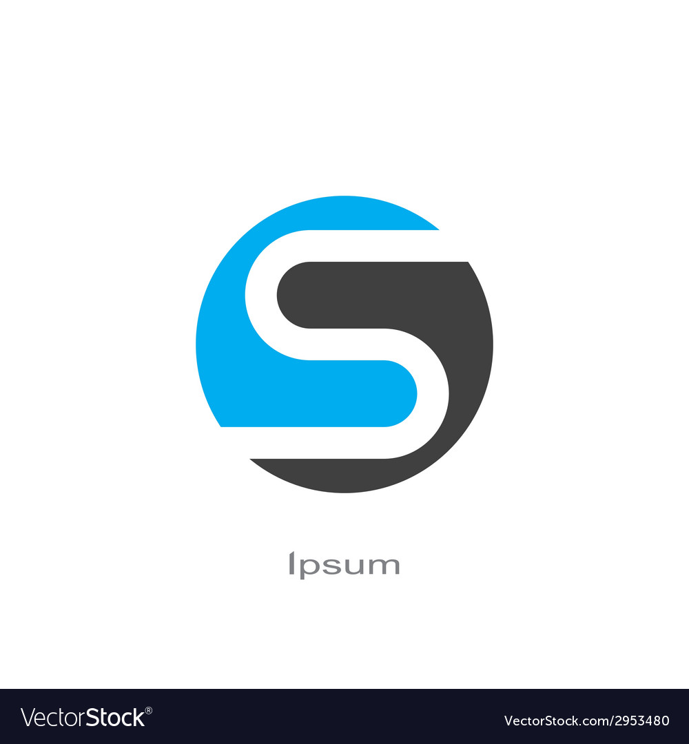 Symbol of letter s vector image
