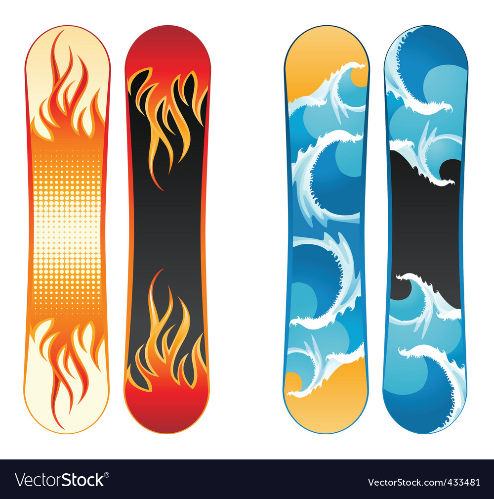 Snowboards vector image