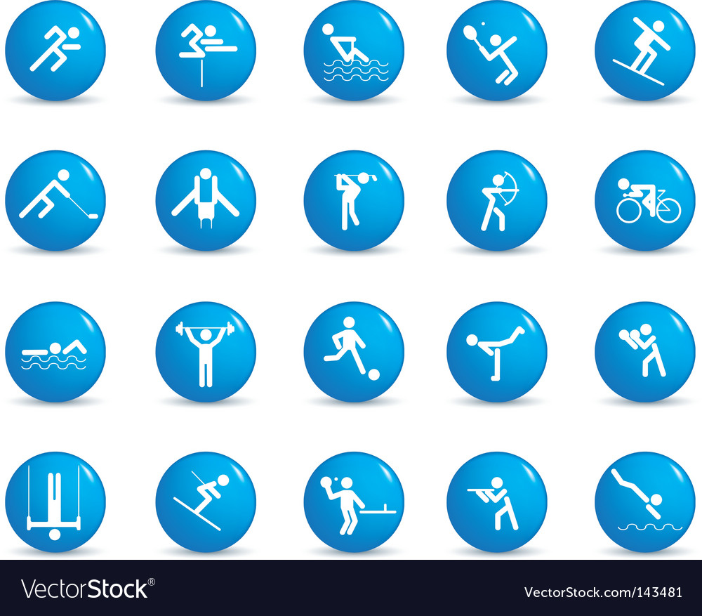 Sports figures vector image