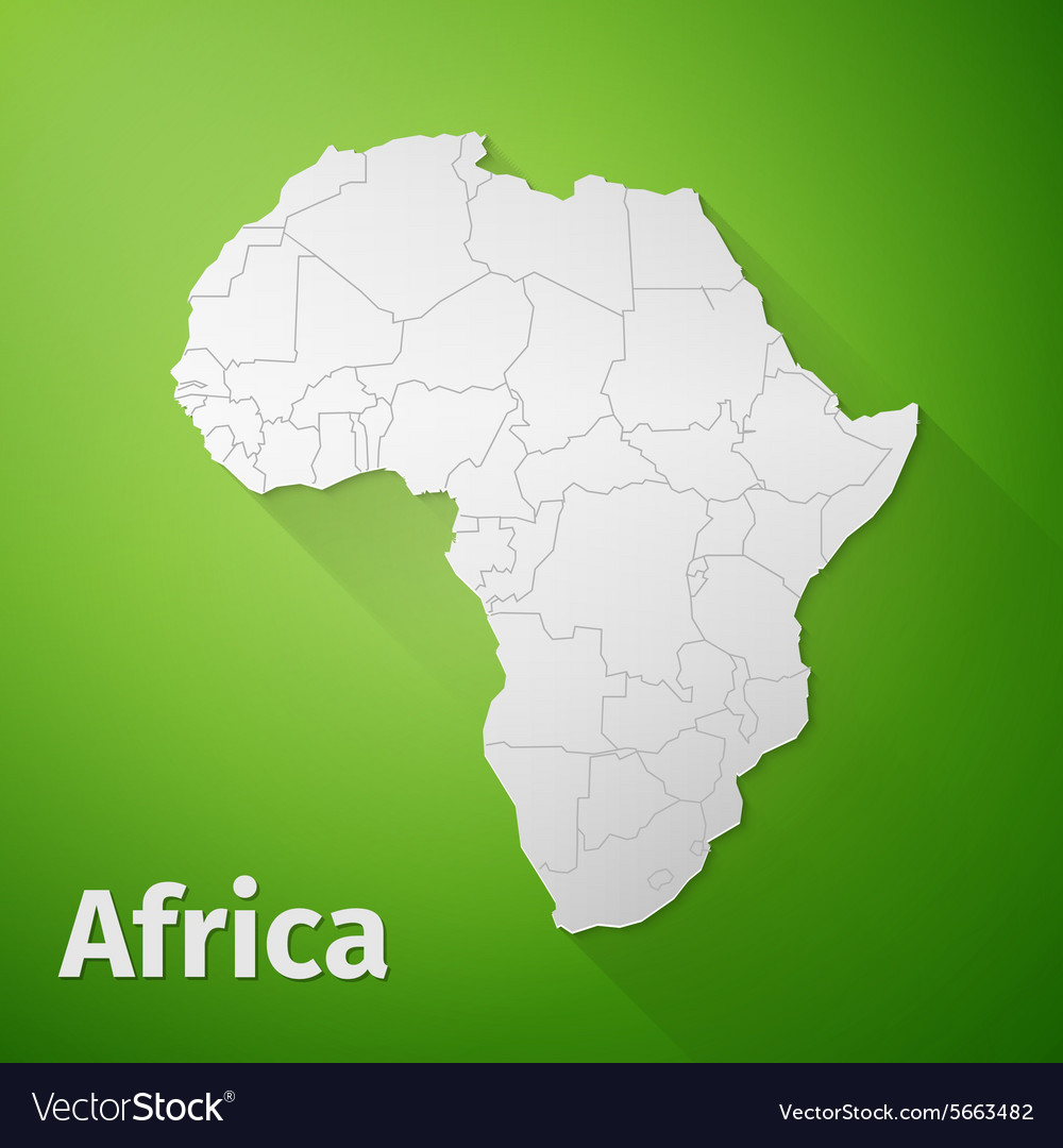 Africa map on green background royalty free vector image africa map on green background vector image gumiabroncs Choice Image