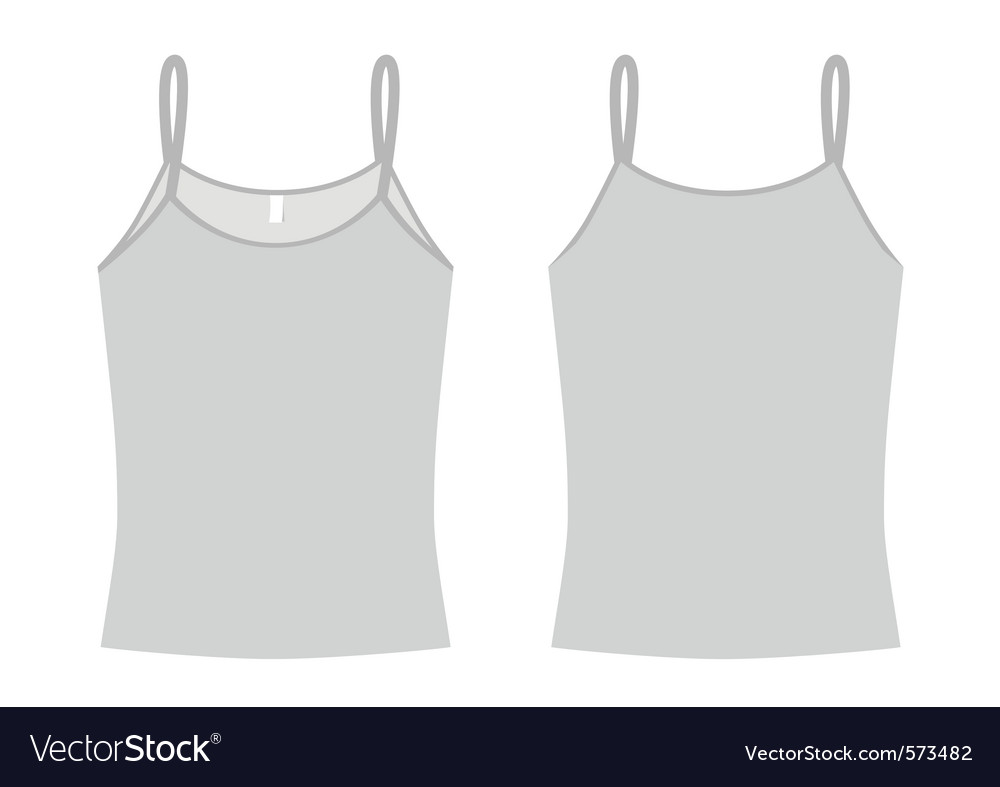 Ladies spaghetti shirt template vector image
