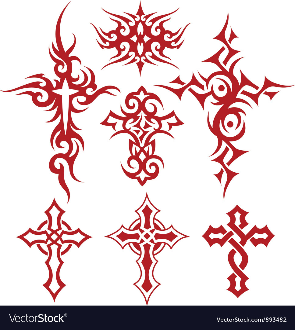 Tribal cross fire vector image