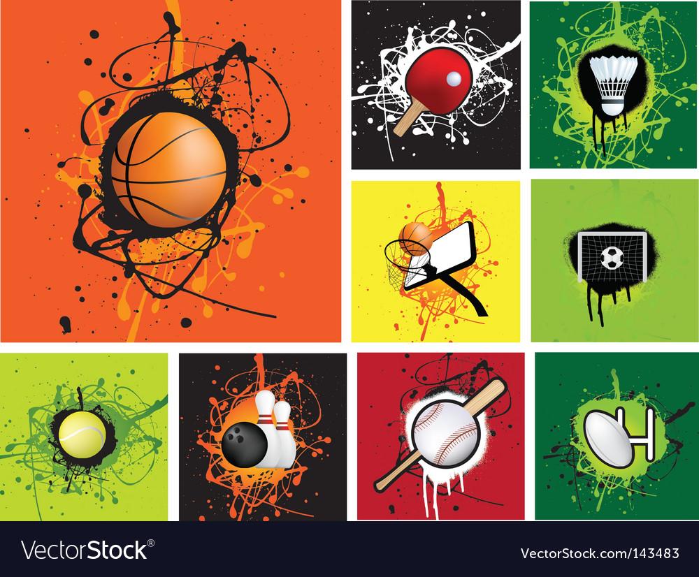 Grunge sports vector image