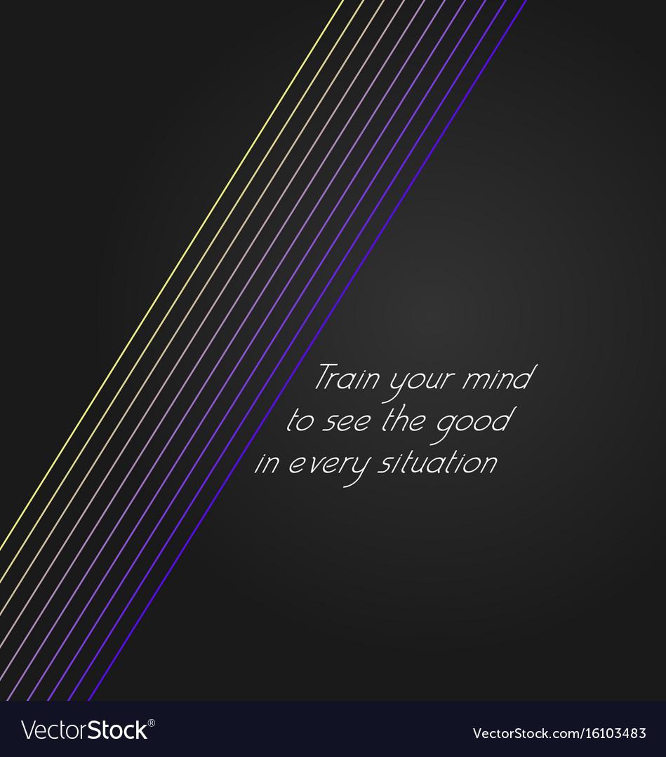 Inspirational background vector image