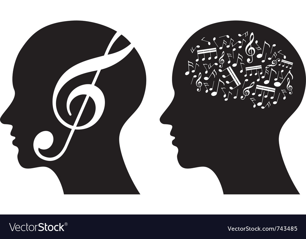 Music abstract vector image