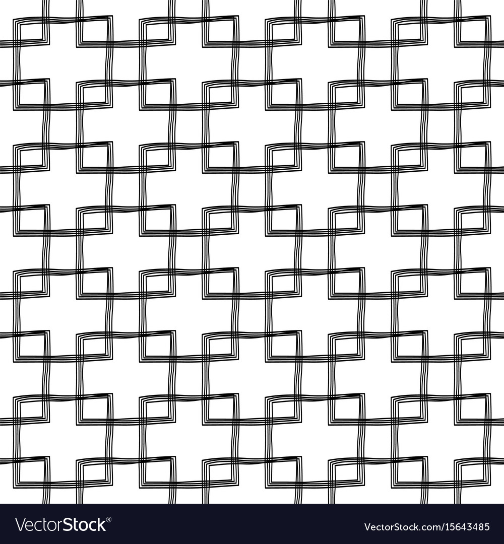 Scribble seamless pattern design - hand drawn vector image