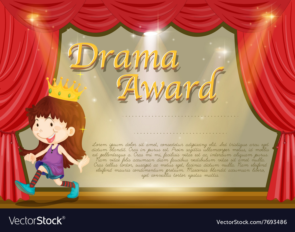 Certificate template with girl on stage royalty free vector certificate template with girl on stage vector image alramifo Choice Image