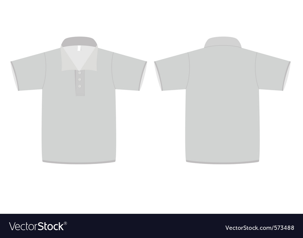 Polo shirt template vector image