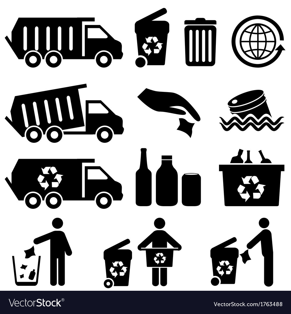 Recycling icons vector image
