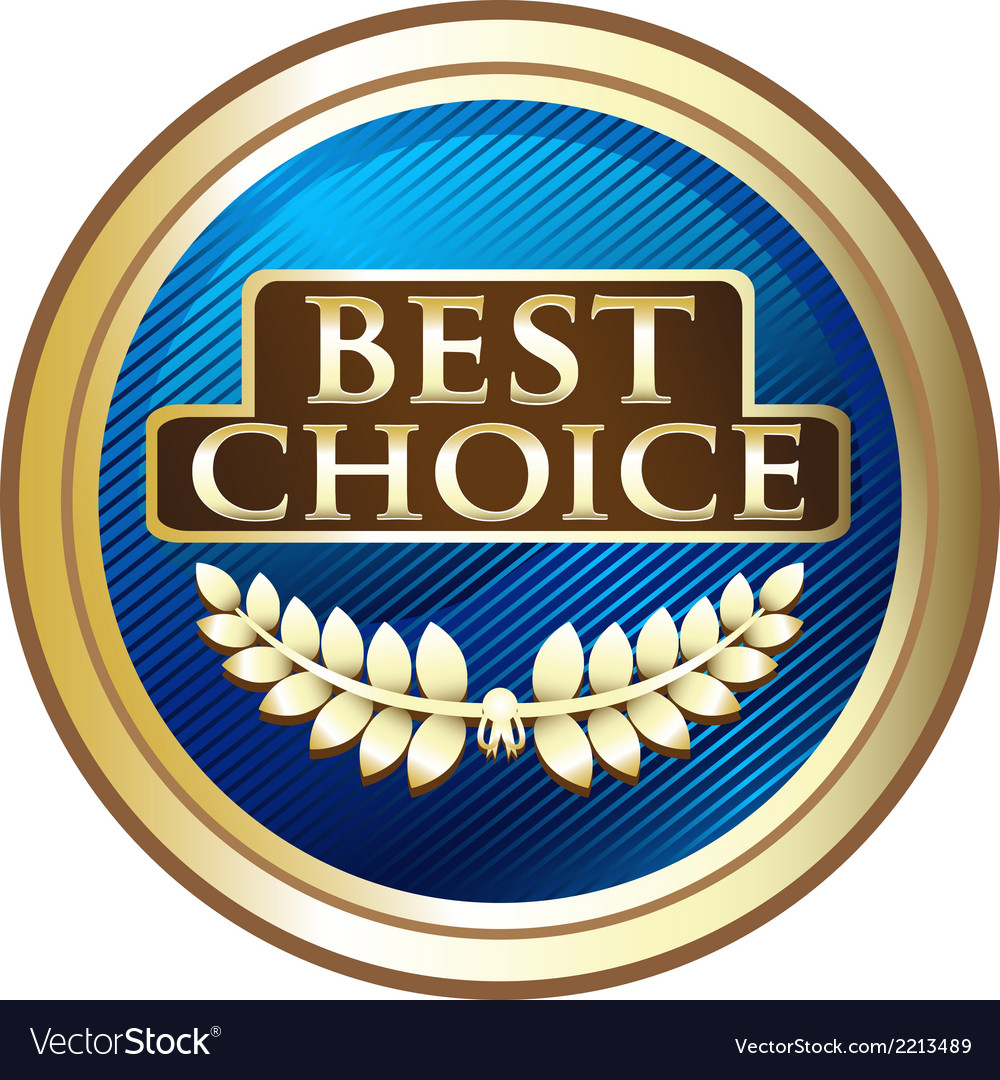 Best Choice Blue Label vector image