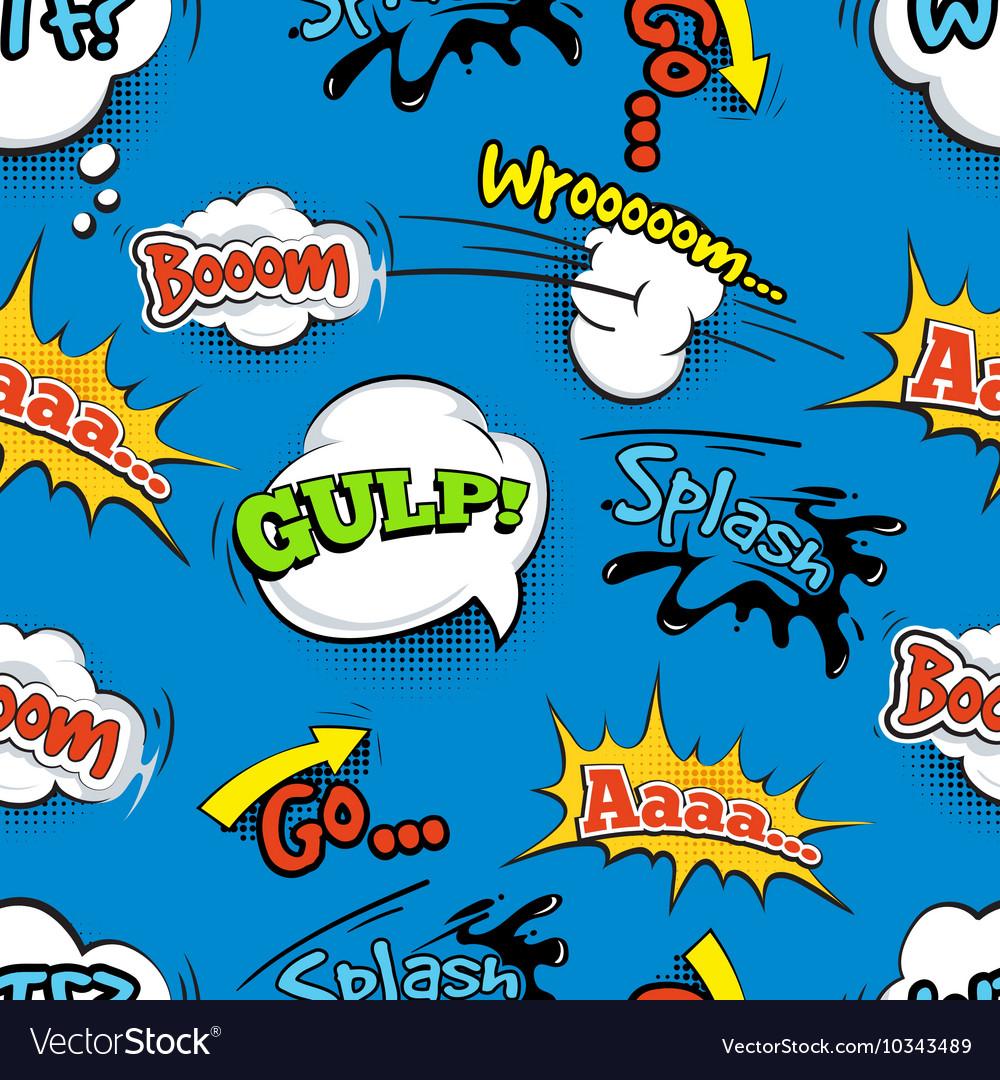 Vintage comic shout seamless pattern vector image