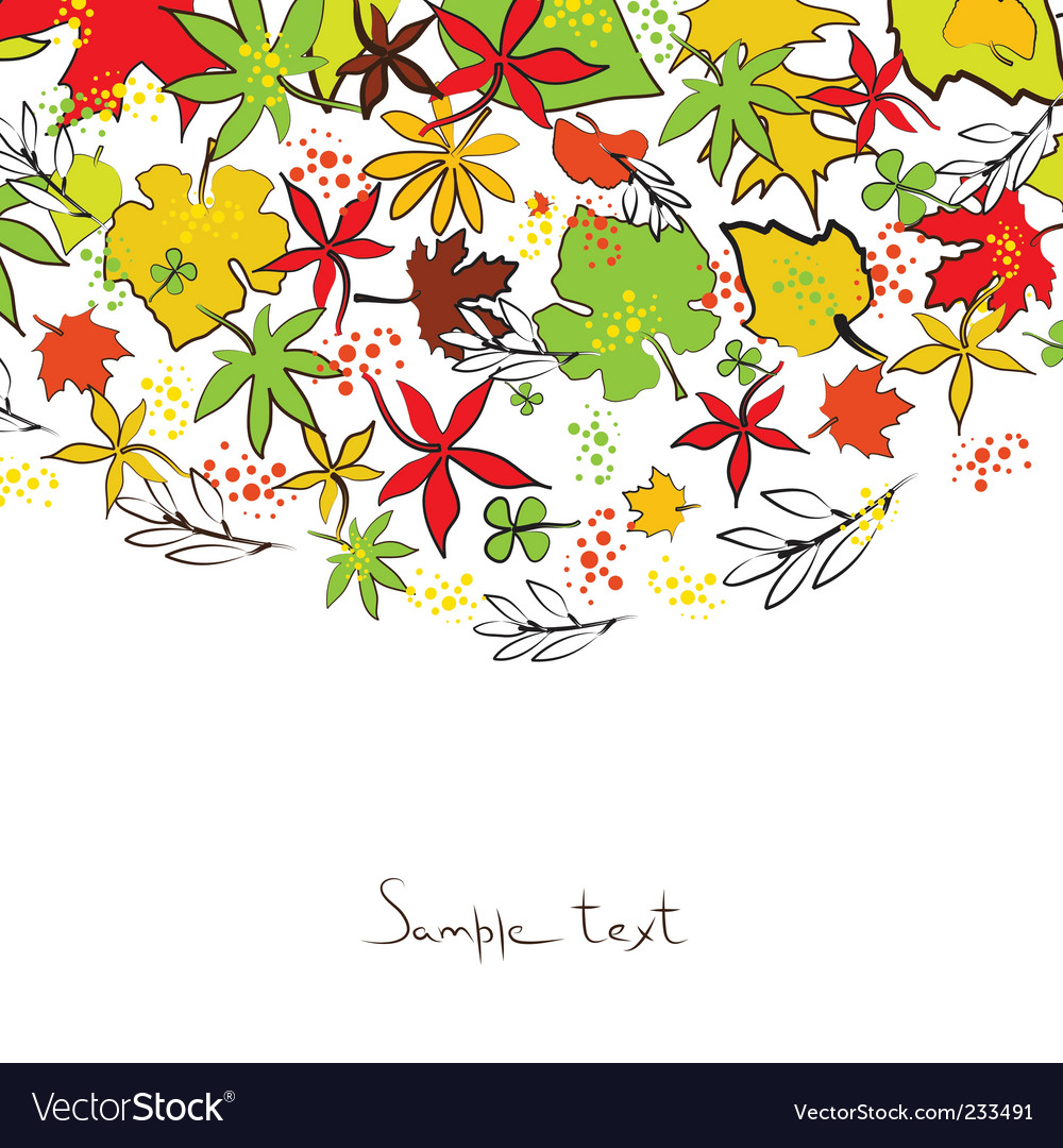 Autumn illustration vector image