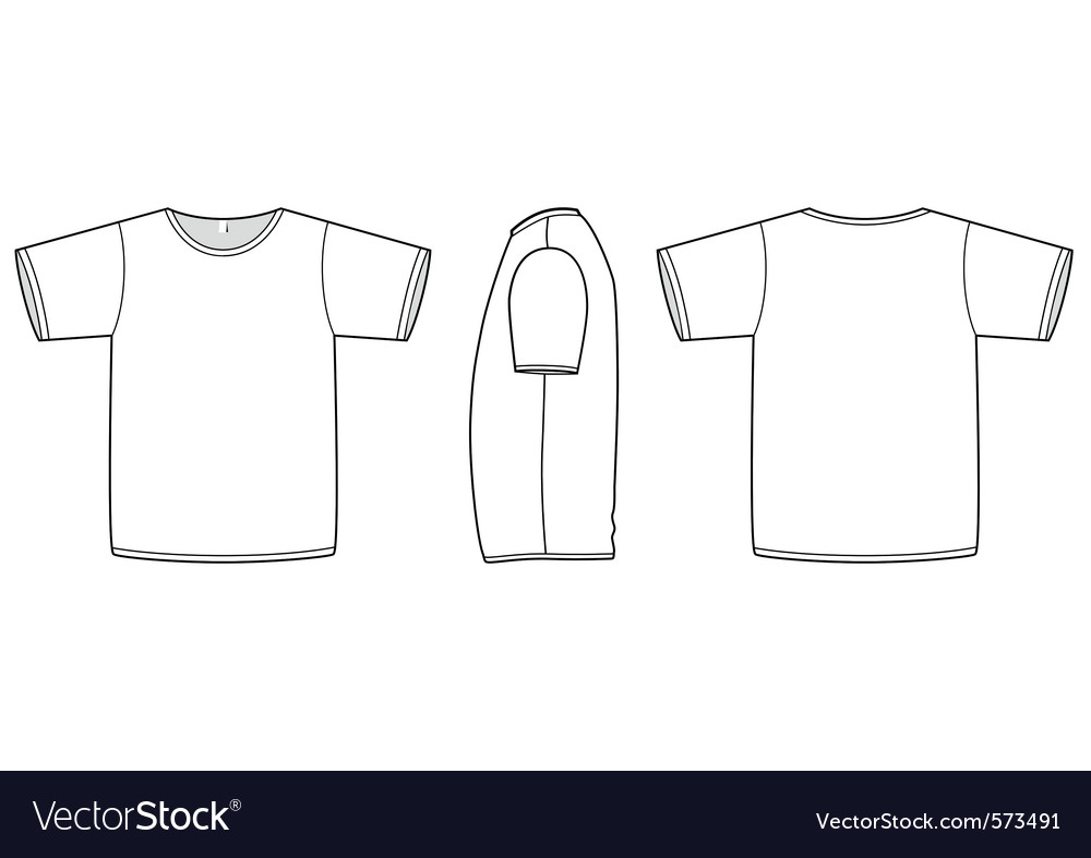 Basic unisex tshirt template royalty free vector image for T shirt templates vector