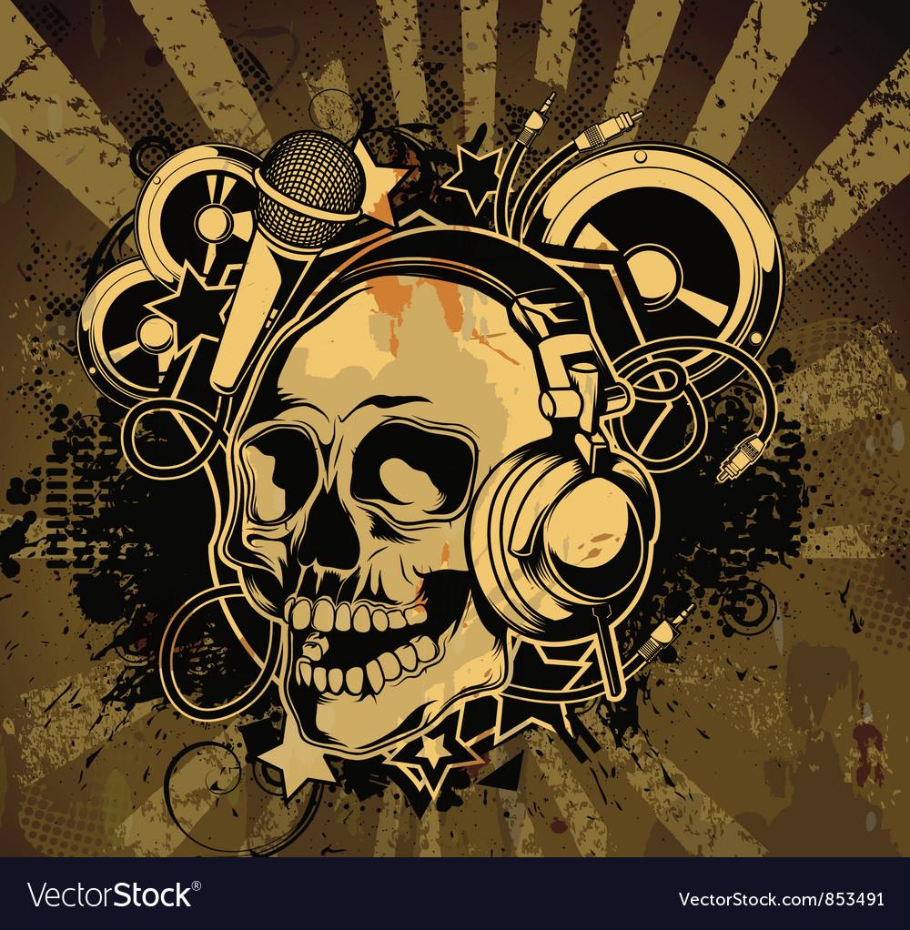 Vintage concert poster vector image