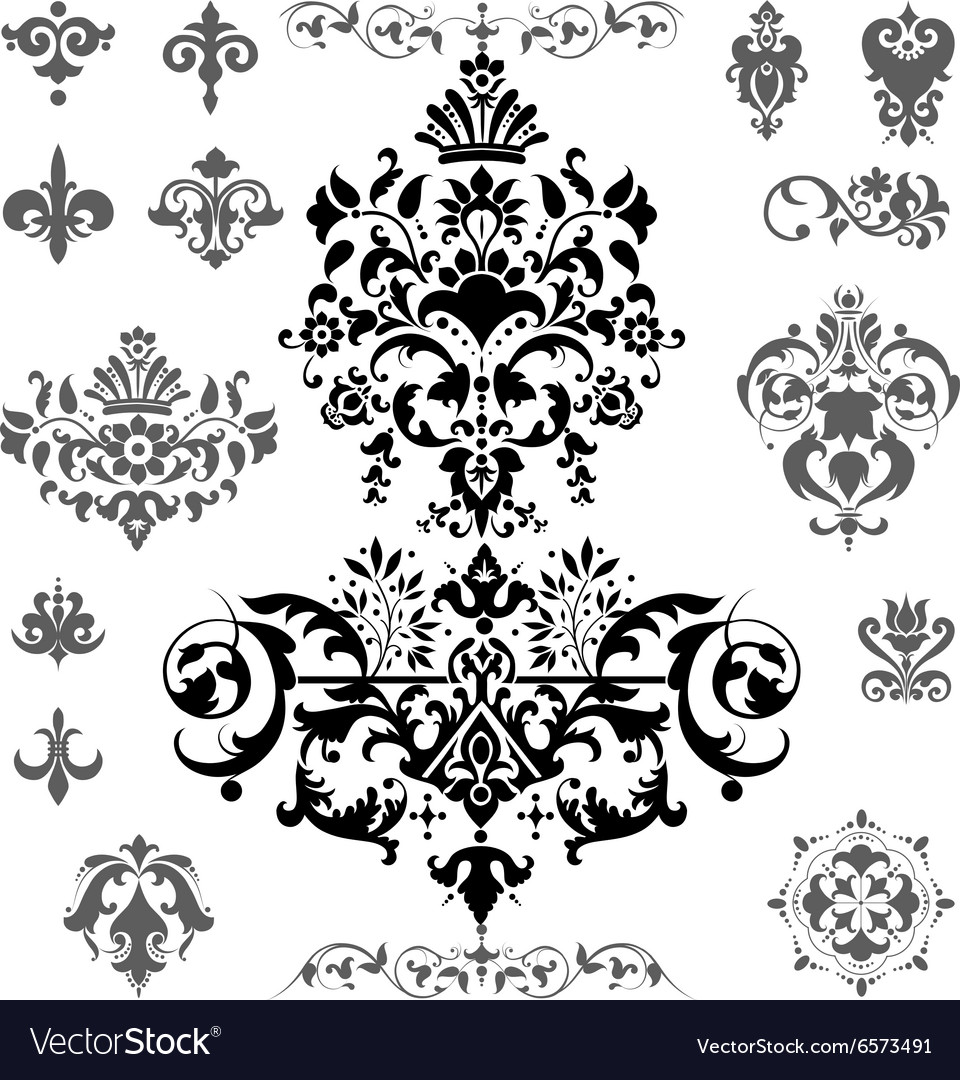 Patterned elements vector image