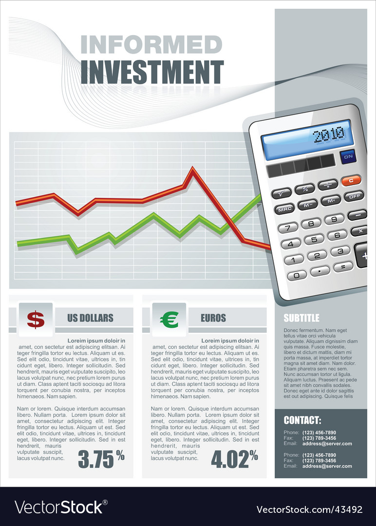 Tax services brochure vector image