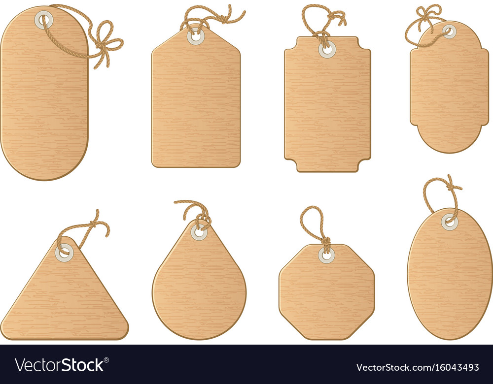 Different shapes of shopping sale tags isolated on vector image