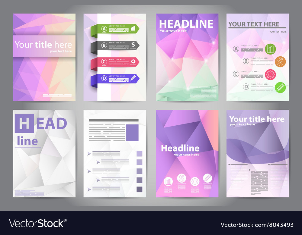 Template design brochures in polygon style vector image